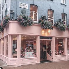 Inspiration for our shop front came from Peggy Porschen Cakes in London and Spectrum on Carnaby Street. Can you guess what colour it's… Coffee Shop Design, Cafe Design, Store Design, Store Front Design, Cake Shop Design, Design Design, Design Ideas, Interior Design Books, Interior Design Software