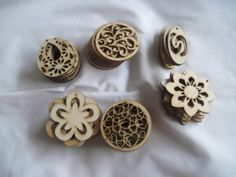 unfinished wood pendants