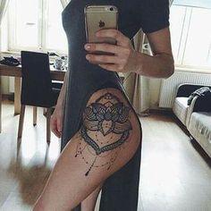 Hip/thigh tattoo