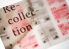 Recollection: Editorial Design by ACST Design