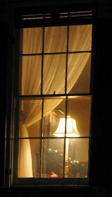 Night Windows: Lamp in the Window