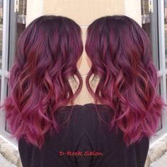 Rose purple color melt | hair color 2015| ombré | red purple balayage| purple hair | hair trend 2015| red balayage| ombré hair|   GREAT HAIR AND SERVICES LIVE AT D-ROCK SALON | 703-293-9400  DROCKSALON.COM @drocksalon