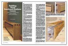 Building Wood Baseboard Radiator Covers Fine Homebuilding 1 May 1998 115
