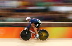Sarah Hammer (USA) during the women's omnium flying laps of cycling track competition in the Rio 2016 Summer Olympic Game sat Rio Olympic Velodrome.    -   Rio Olympics: Best images from Tuesday, Aug. 16