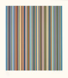 Bridget Riley, RA 2, Screenprint in colours, 1981. Signed in pencil and numbered from the edition of 75. Printed by Sally Gimson at Artizan Editions, Hove. (Schubert 28) 106.6 x 93.2 cm. © Bridget Riley 2014. All rights reserved, courtesy Karsten Schubert, London.