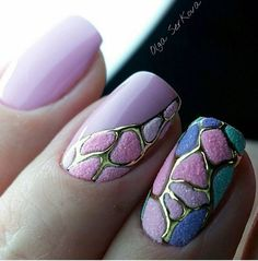 "If you're unfamiliar with nail trends and you hear the words ""coffin nails,"" what comes to mind? It's not nails with coffins drawn on them. It's long nails with a square tip, and the look has. Nails 2017, 3d Nails, Blue Nails, Purple Nail, Acrylic Nails, Nail Art Techniques, Nagellack Trends, Types Of Nails, Fabulous Nails"