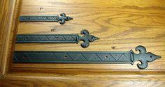 """Decorative Straps Fleur de Lis styling with unique reveals and markings - 11"""" Length"""
