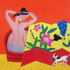 Original painting morden art abstract painting -bathing beauty. $38.00, via Etsy.