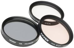 Tiffen 52mm Photo Essentials Kit with UV Protector, 812 Color Warming, Circular Polarizing Glass Filters and 4 Pocket Pouch