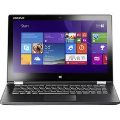 "Lenovo - Geek Squad Certified Refurbished 13.3"" Touch-Screen Laptop Intel Core i5 4GB Memory 500GB HDD - Black - Larger Front"