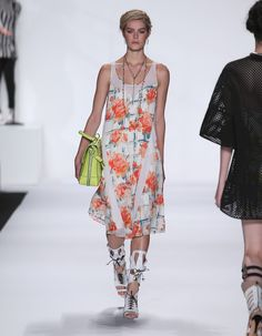 Rebecca Minkoff Look 27: Casablanca Print Chiffon Leigh Dress