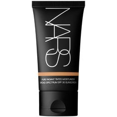 NARS Annapurna Pure Radiant Tinted Moisturizer Broad Spectrum SPF 30 ($44) ❤ liked on Polyvore featuring beauty products, makeup, face makeup, tinted moisturizer, 34. foundation & blush., beauty, faces, annapurna, filler and oil free tinted moisturizer