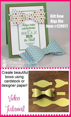 Love this new Gift Bow Die--the possibilities are endless! {Video Tutorial}
