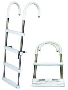 JIF - DUF4 ~ 4-STEP TELESCOPING PONTOON LADDER STAINLESS 316 [DUF4] - $146.87 : Boat Ladders - Pontoon Boat Ladder - Dock Ladders for Less, Boat-Ladders-Store.com