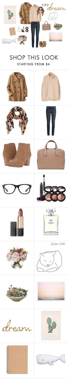 """Andie Gardener (Work Attire)"" by jtandks ❤ liked on Polyvore featuring Uniqlo, MANGO, Burberry, Yves Saint Laurent, Franco Sarto, Loewe, Laura Geller, Estée Lauder, Chanel and Wilder California"