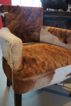 Stunning goat hide chair.
