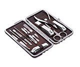#9: Tseoa Manicure Pedicure Kit Nail Clippers Set of 12Pcs Professional Grooming Kit Nail Tools with Luxurious Travel Case