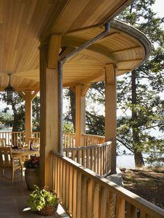 John Gilmer Architect, Canadian Gulf Islands, porch