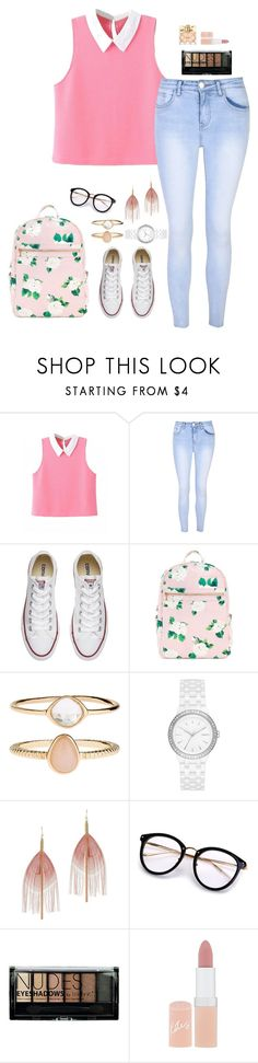 """""""We don't talk anymore"""" by lovelywonderstruck13 ❤ liked on Polyvore featuring Glamorous, Converse, Accessorize, DKNY, Serefina, Boohoo, Rimmel, Avon and vintage"""