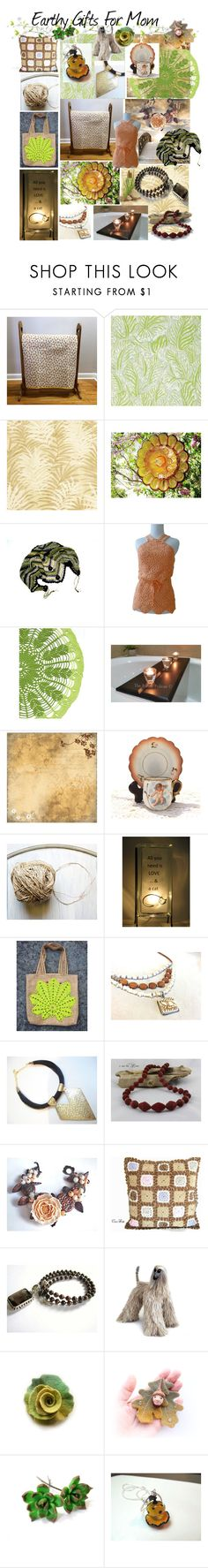Earthy Gifts For Mom by belladonnasjoy on Polyvore featuring Christopher Farr and etsy
