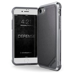 iPhone 8 & iPhone 7 Case, X-Doria Defense Lux Series - Military Grade Drop Tested, Anodized Aluminum, TPU, and Polycarbonate Case for Apple iPhone 8 & [Ballistic Nylon] Iphone 8 Plus, Iphone Se, Iphone Bumper, Apple Iphone, Apple Mobile Phones, Doria, Latest Iphone, Cool Iphone Cases, Silicone Phone Case