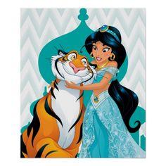 Jasmine and Rajah Postcard - Disney postcards here! Aladdin Princess, Disney Princess Jasmine, Punk Princess, Disney Fun, Disney Movies, Disney Characters, Disney Nerd, Disney Villains, Walt Disney