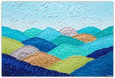 New Sweeping Hills Countryside textural painting. 90cm x 60cm. Now available through my online art gallery. Please visit. https://bluethumb.com.au/cmirandalloyd