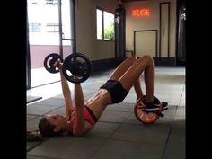 Victoria's Secret Model Izabel Goulart Workouts - Part 3 - YouTube