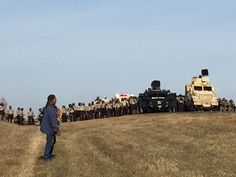 Police said they plan to take 'necessary steps to move trespassers from private property' as increasingly tense protests continue over a disputed oil pipeline