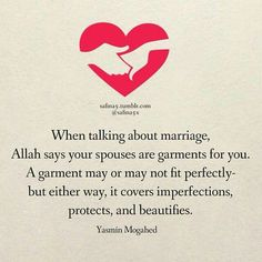 Muslim Quotes More Islamic Quotes… Islamic Quotes On Marriage, Muslim Couple Quotes, Best Islamic Quotes, Muslim Love Quotes, Love In Islam, Islamic Inspirational Quotes, Religious Quotes, Love And Marriage, Islamic Qoutes