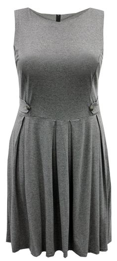 A Beautiful Ladies Plus Size Grey Military Style Pinafore Dress - Curvylicious: http://www.ebay.co.uk/itm/Ladies-Plus-Size-Navy-Grey-Military-Style-Pinafore-Dress-566-567-/300748227950