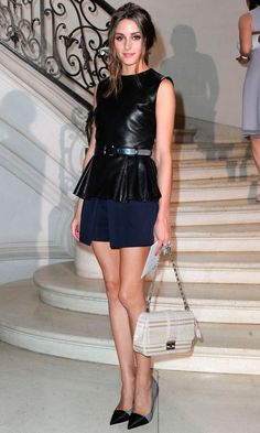 Olivia Palermo Rocked The Peplum Trend At Couture Fashion Week, 2012
