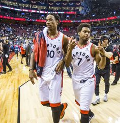 'Let's give it a chance': How Kyle Lowry and DeMar DeRozan bought into the Toronto Raptors' new offence Toronto Raptors, Basketball Players, Basketball Stuff, Sports Teams, Nba Pictures, Kyle Lowry, Nba Wallpapers, New Orleans Pelicans, Fort Myers Beach