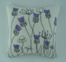 freehand machine embroidery thistle - Google Search