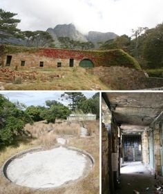 Rhodes Zoo, Cape Town, South Africa - was built in the 1890's. It was left to nature and vandals after closing down in the 70's. The ruins are set against the mountains and often draped in fog to give it a ghostly feel!