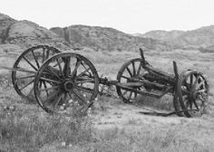 old wagon skeleton in Wyoming....