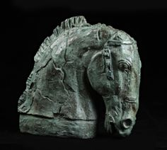 Émile Antoine BOURDELLE (1861-1929) Tête de cheval Bronze à patine verte. Sold 6 201€ with Artprecium #artauction