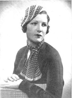 crochet tam and scarf, from 1933 Stitchcraft, found on web.archive.org