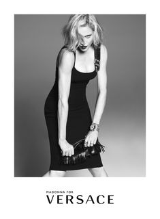#MadonnaForVersace Spring Summer 2015 Advertising Campaign. Talent: Madonna Photography: Mert Alas & Marcus Piggott Art Director: Giovanni Bianco-Studio65 Stylist: Jacob K Hair: Garren Make-up: Lucia Pieroni Location: New York