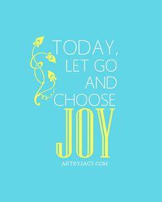 Choose Joy {Free Printable}