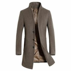 HTOOHTOOH Womens Casual Lapel Autumn Long Wool Coat Overcoat with Belted