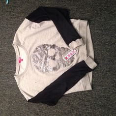 BONGO long sleeve skull shirt SUPER cute. Never been worn, still with tags. BONGO Tops Tees - Long Sleeve