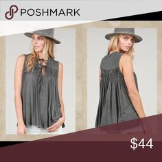 Top This charcoal top is very oft and flowy.  Hand wash cold water. POL Tops Tank Tops