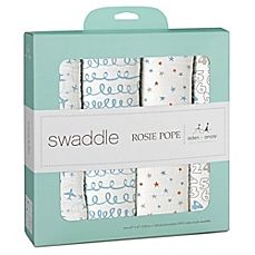 http://www.toysstoresonline.com/category/aden-and-anais/ image of Rosie Pope® by aden + anais® Plane 4-Pack Muslin Swaddle Blankets