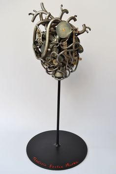 Mechanical human heart...trash art