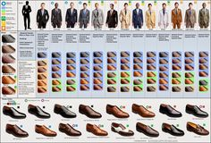 Mens Suit and Shoe guide