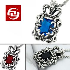 Free Shipping Piggege leather personality male titanium steel pendant non-mainstream vintage gem necklaceY.R