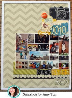 amy tangerine scrapbook page -- great solution to all those random events and photos