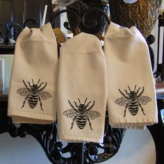 Bumble hand towels (Etsy)