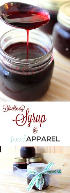 Simple Blackberry Syrup - Blackberries - Ideas of Blackberries - Simple Blackberry Syrup Recipe easy to make fabulous to gift! Food Apparel (C and Tam) For the finest in berries the world try Driscoll's. Blackberry Syrup Recipes, Blackberry Extract Recipe, Blackberry Sauce, Food Storage, Salsa Dulce, Homemade Syrup, Jam And Jelly, Sweet Sauce, Canning Recipes